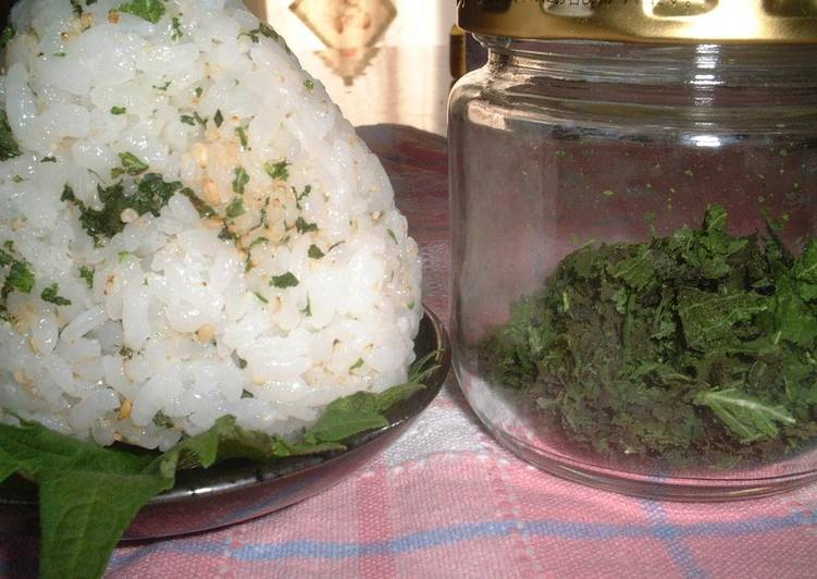 Steps to Prepare Speedy Dried Shiso Leaves (For Onigiri, Pasta, or for Stocking)