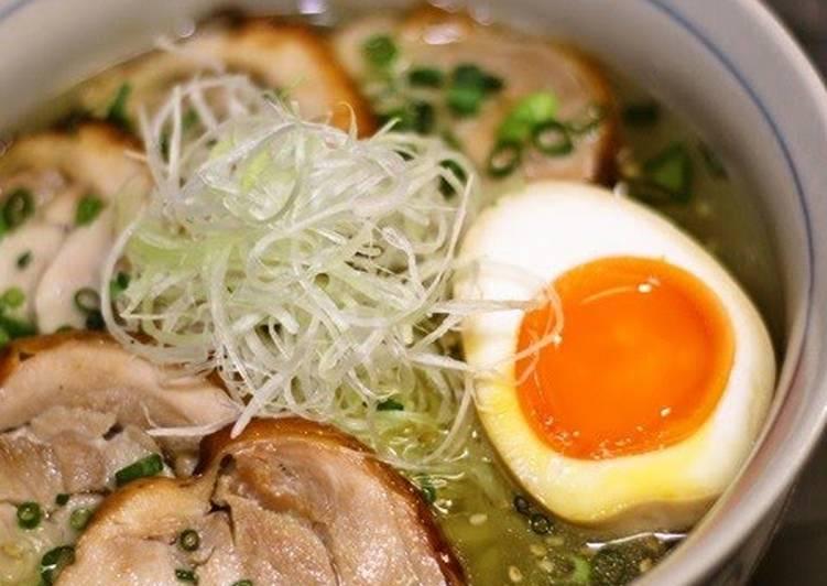 Recipe of Favorite (Shio) Salt-broth Chicken Ramen