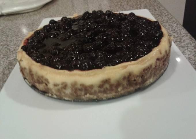 Recipe of Award-winning Vanilla Mascarpone Blueberry cheesecake