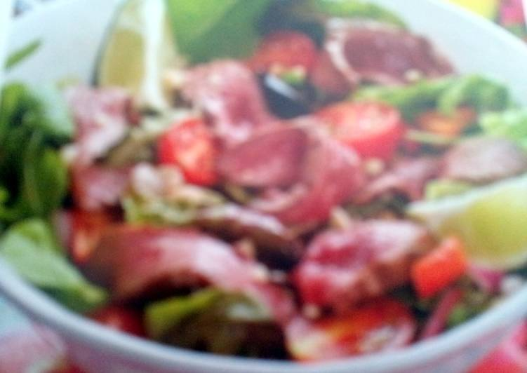 Recipe of Super Quick Homemade SPICY OSTRICH FILLET SALAD