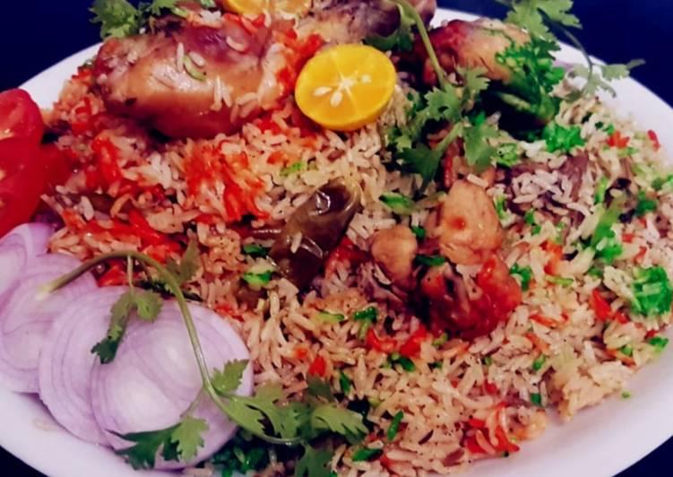Simple Way to Prepare Perfect Pressure Cooker Instant Chicken Biryani #GA4 #WEEK8 #Chicken biryani #Pulao