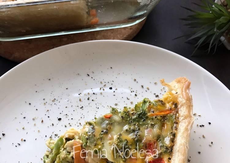 Vegetables Quiche Dengan Puff Pastry