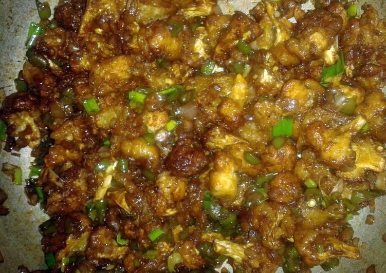 Cauliflower Manchurian Dry