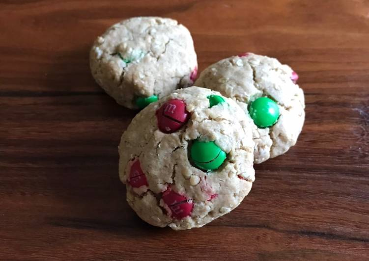 Whole Wheat M&M Oatmeal Cookies