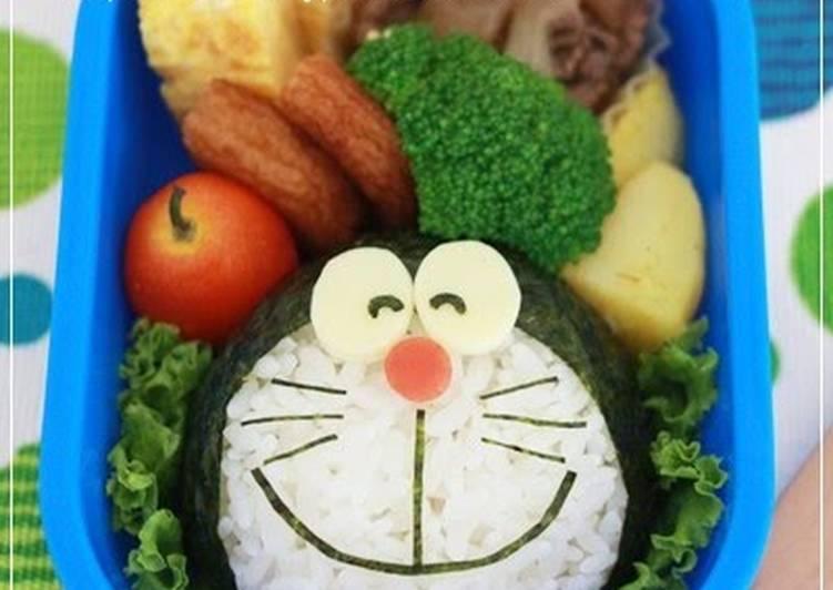 Easy Charaben Doraemon with Nori Seaweed