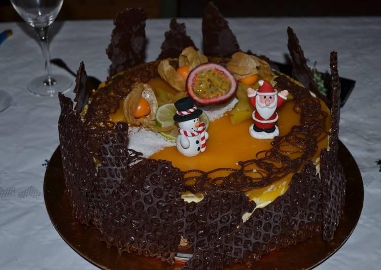 Bavarois chocolat mangue passion