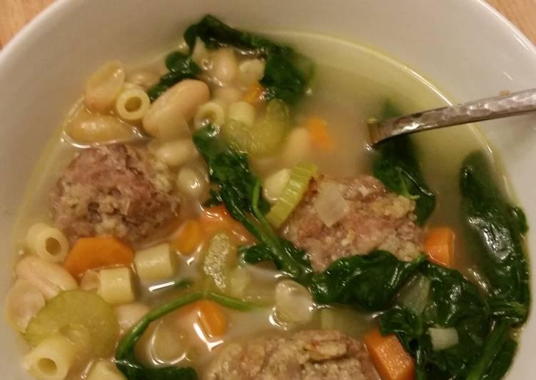Recipe of Ultimate Italian meatball soup