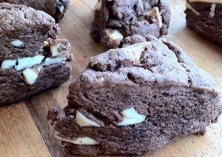 Cocoa and Chocolate Scones with Pancake Mix