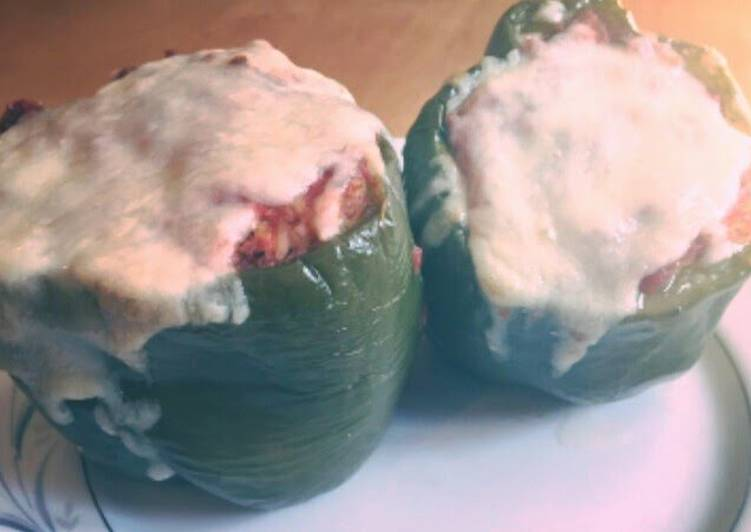 Gracie's Favorite Stuffed Peppers(TWO WAYS!! Carb and Low Carb)