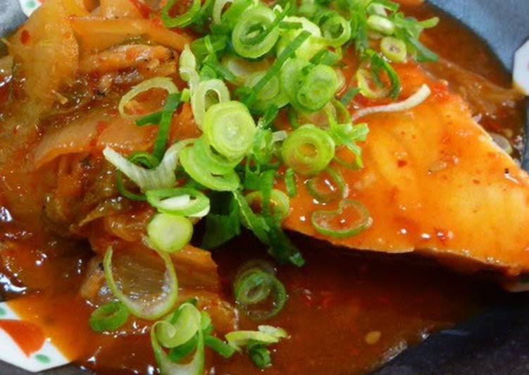 How to Make Yummy ✜ Simmered Amberjack Kimchi ✜