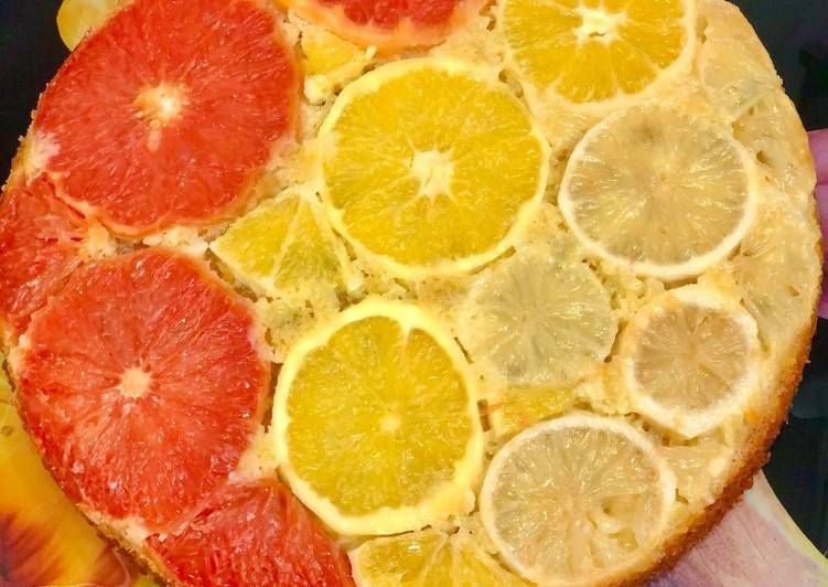 Recette Délicieux Gâteau renversé aux agrumes