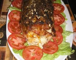 Lomo de cerdo con mostaza y cerveza