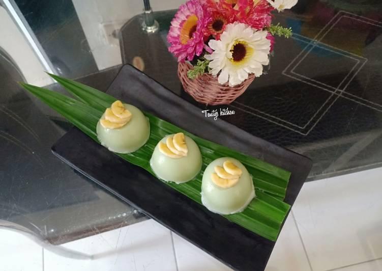 Kue Talam Tepung Beras Pandan - cookandrecipe.com