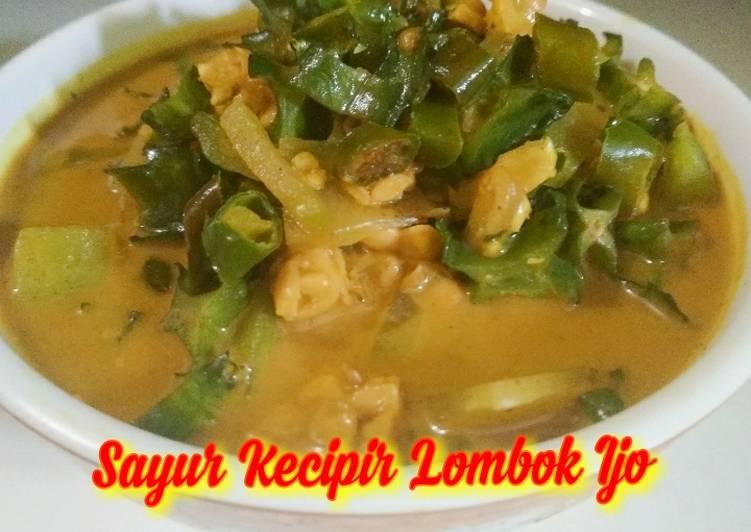 Resep Sayur Kecipir Lombok Ijo Anti Gagal