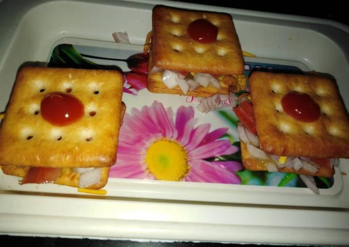 Recipe: Perfect Biscuit sandwich 🥪