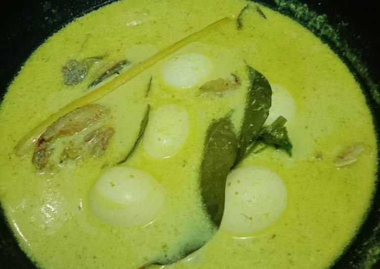 Gulai Telur Bulat Ikan Belah