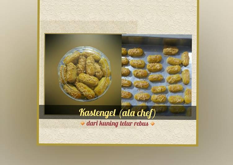 Kastengel (ala chef)        ▪dari kuning telur rebus▪