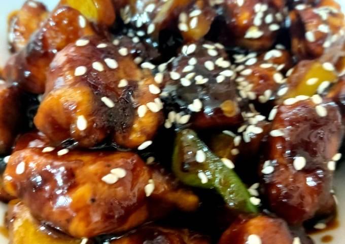 My Chinese Sticky Garlic Sesame Chicken. 😘😘