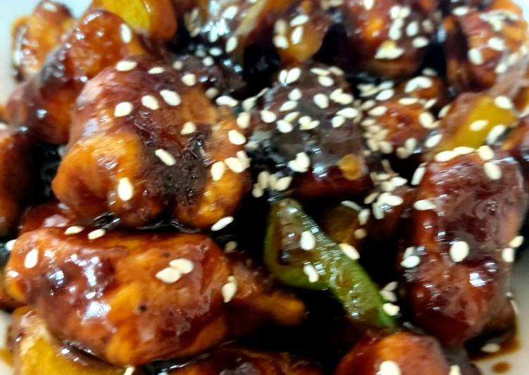 Recipe of Top-Rated My Chinese Sticky Garlic Sesame Chicken. 😘😘