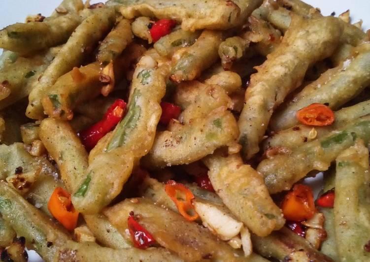Buncis cabe garam ala resto chinese food