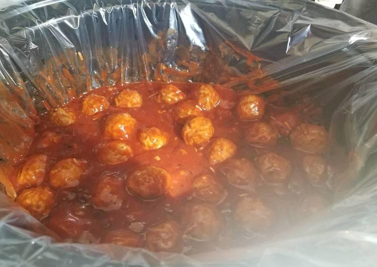 Yummy Apple Jelly Meatballs / Hoagies