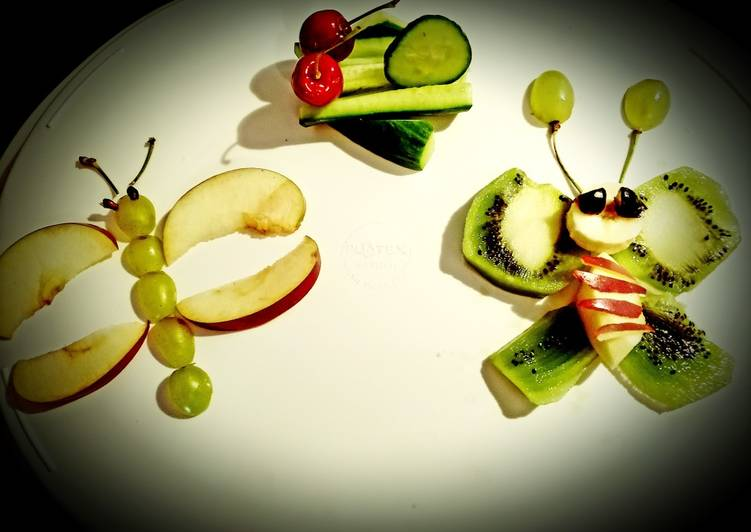 Simple Way to Prepare Homemade Fruit salad art by daughter