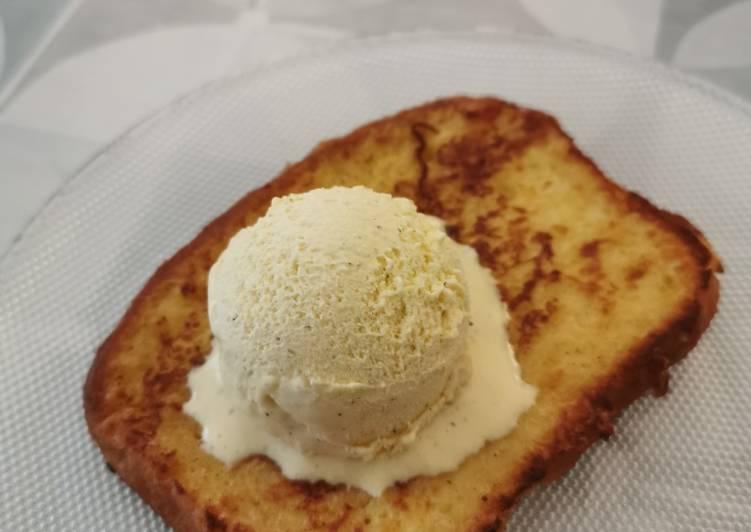 Recette Parfait Brioche perdue, glace vanille