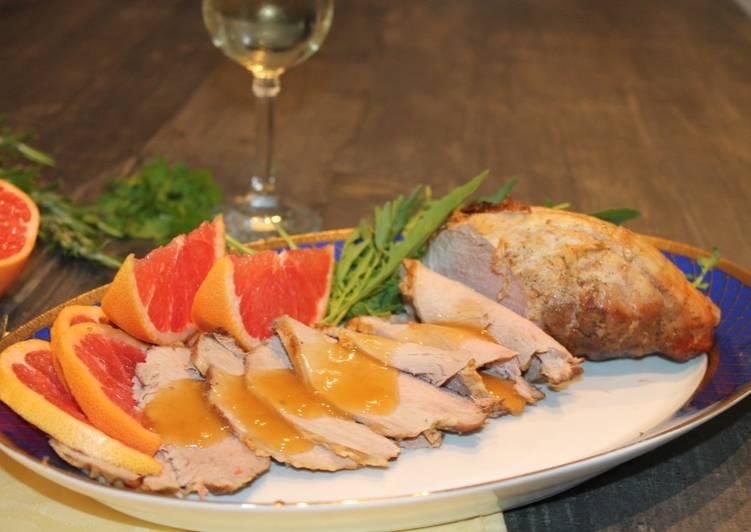 Ricetta Tagliata di filetto al pompelmo rosa
