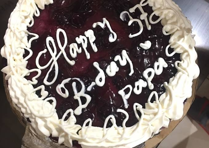 37 years of love blueberry cheesecake