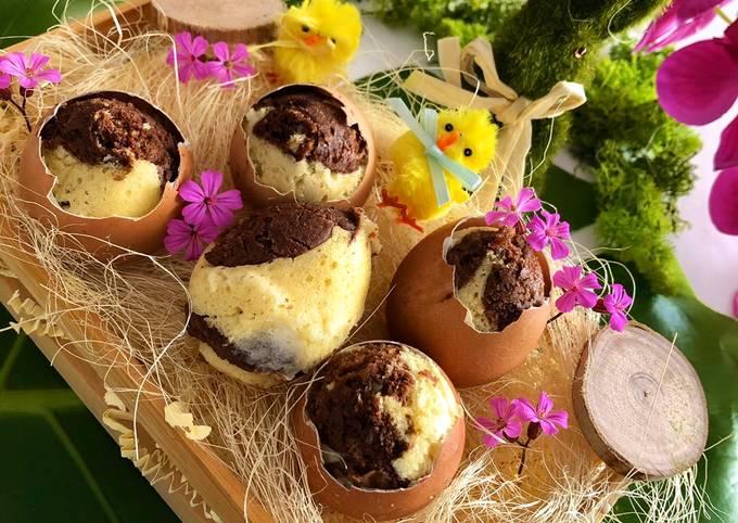 Marbrés œufs de Pâques à la vapeur au Companion