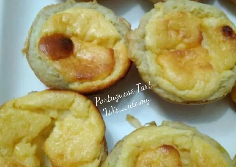 Portuguese Egg Tart dengan isian Custard Cheese