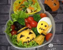 Bento Halloween - bento anak - halloween bento - ide bekal anak sekolah - kreasi bento anak