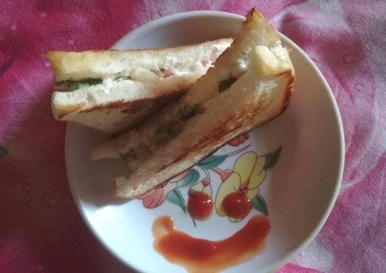 How To Improve  Curd veggies sandwich
