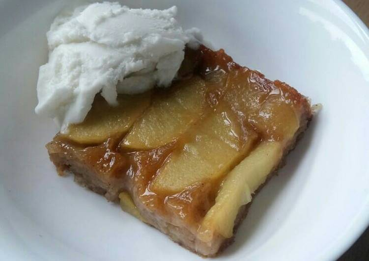 Recipe of Perfect Vickys Caramel Apple Upsides Down Cake, GF DF EF SF NF