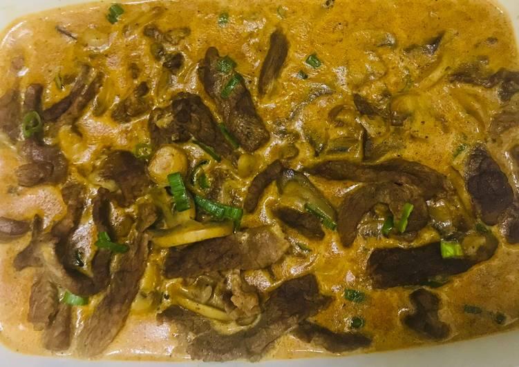Simple Way to Prepare Favorite Beef stroganoff