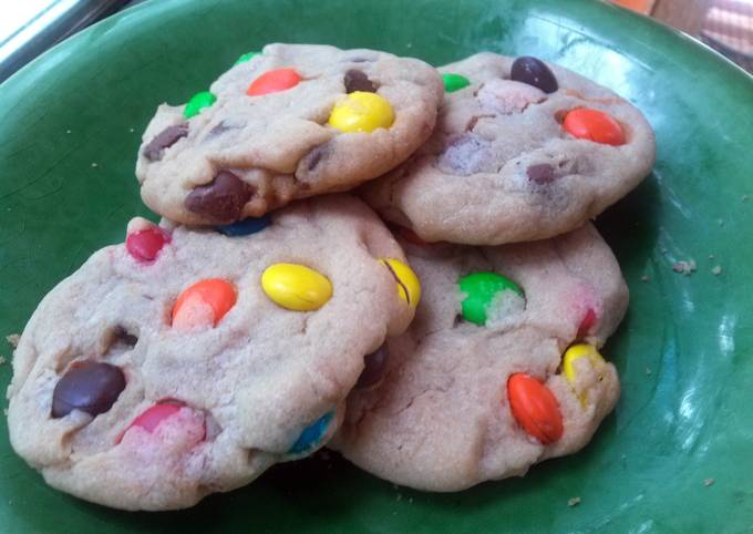 How to Make Yummy Soft-baked M&M/Chocolate Chip Cookies