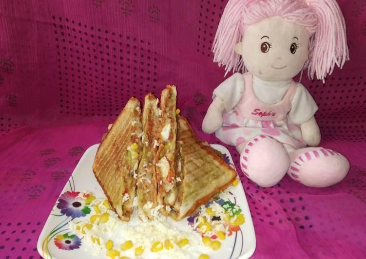 Grill cheese corn sandwich