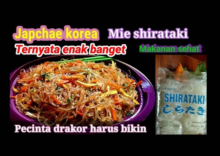 Japchae ala korea dari mi shirataki