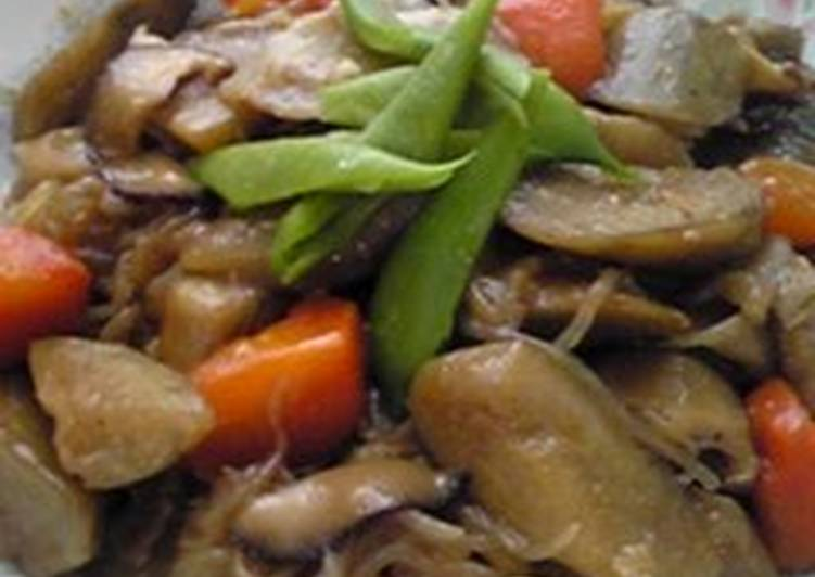 Recipe of Any-night-of-the-week Simmered Pork Belly and Burdock Root