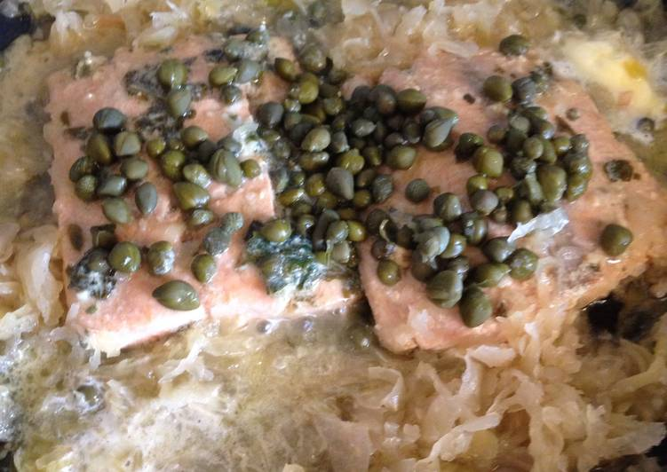Basil Salmon With Capers and Avocados