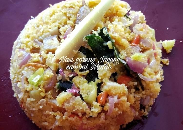 Nasi Goreng jagung sambal matah