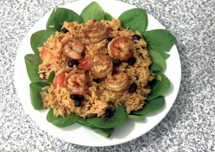 Too EZ Paprika & Garlic Prawns on (spanish) Rice