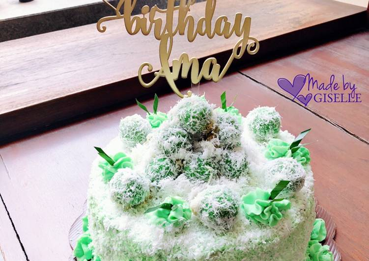 Ondeh ondeh cake aka klepon cake