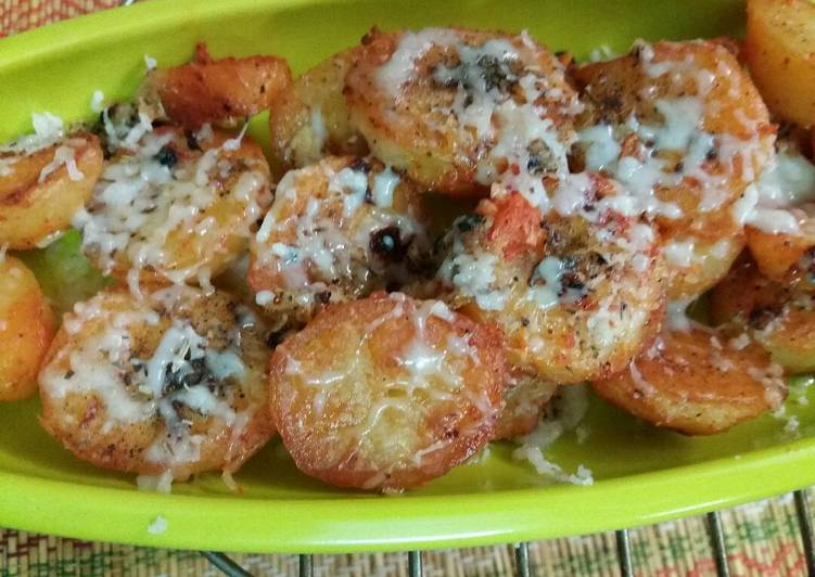 Oven roasted chilli potato....