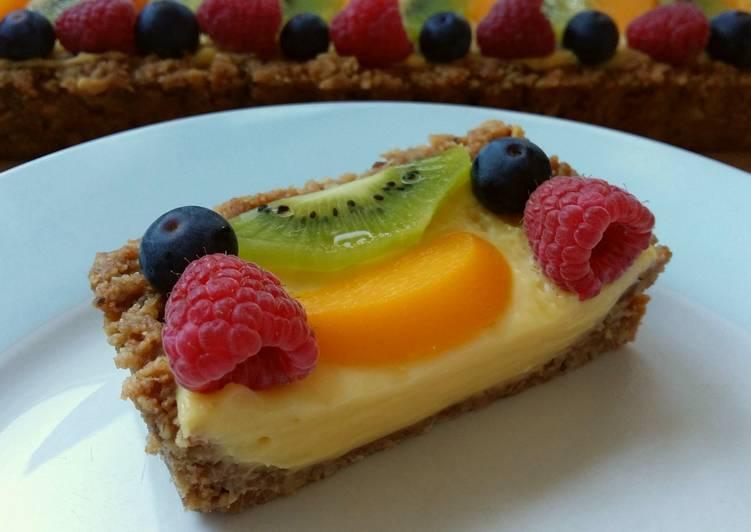 Simple Way to Prepare Ultimate Vickys No Bake Fruit Tart, GF DF EF SF NF