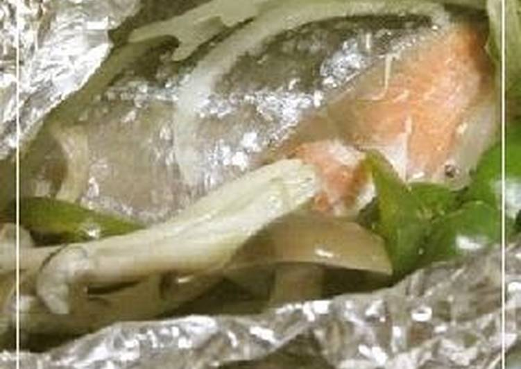 Foil Baked Salmon Made in a Frying Pan, Helping Your To Be Healthy And Strong with Food