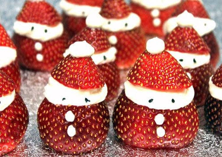 How to Cook Appetizing Vickys Strawberry Santas, GF DF EF SF NF