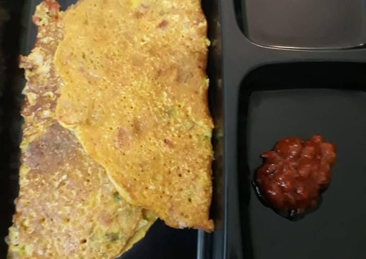 Besan Chilla / Gram flour pancake