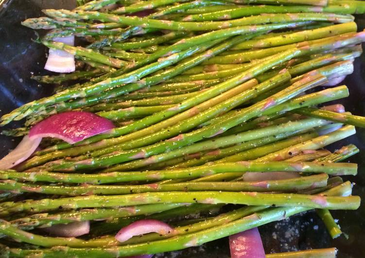 Recipe: Yummy Lemon Roasted Asparagus