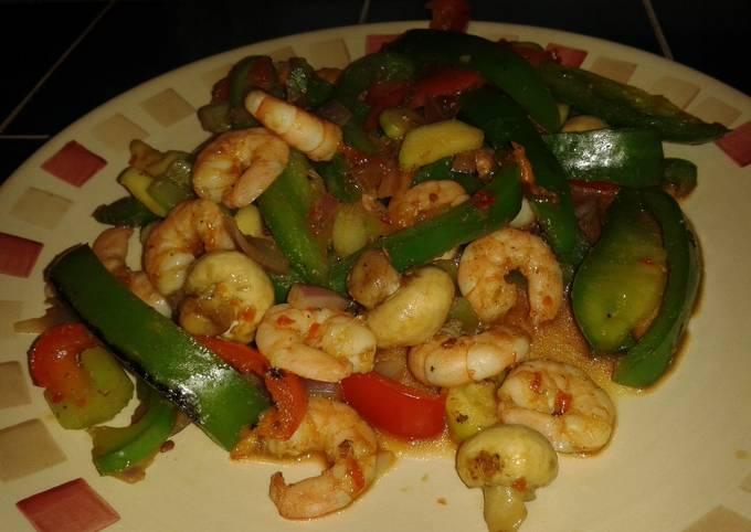 Recipe of Award-winning Low fat chilli king prawn stir fry